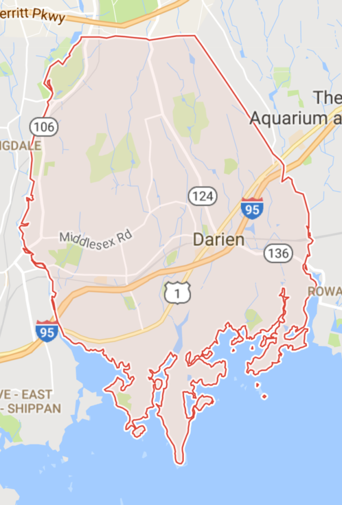 Darien CT Map